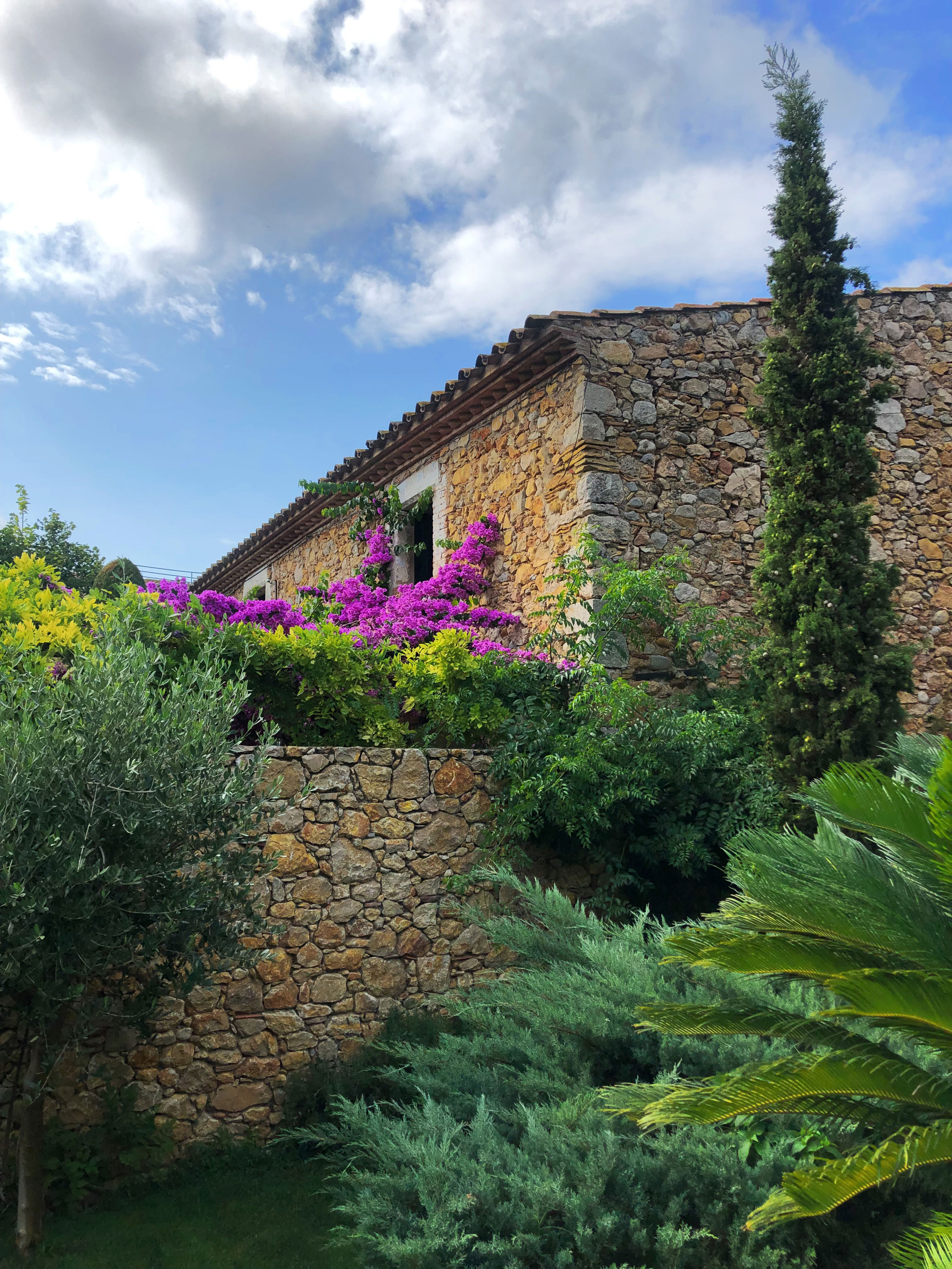 Country house and bouganville